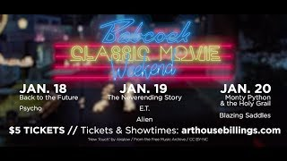 Classic Movie Weekend - Jan. 18-20 at The Babcock Theatre