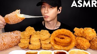 MOST POPULAR FOOD FOR ASMR (KFC, ONION RINGS, MOZZARELLA CORN DOG, CHICKEN NUGGETS) NO TALKING thumbnail