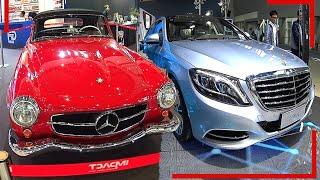 Past vs Future, New 2016, 2017 Mercedes S500 EL hybrid VS Old 1955 Mercedes-Benz 190SL