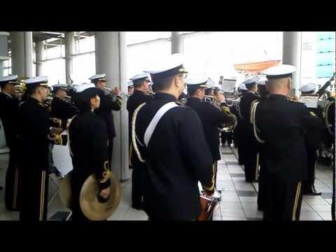 軍艦行進曲 蛍の光 海上自衛隊 音楽隊 Warship March & Auld Lang Syne JMSDF brass band