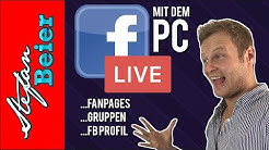 Facebook Live Stream am PC (deutsch) - FB Live über PRIVATES Profil
