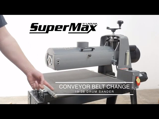 How To Change the 19|38 Drum Sander Conveyor Belt | Laguna Tools