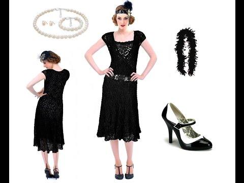 Charleston Kleid Schwarz Im 20er Vintage Stil Outfit Tipps Youtube