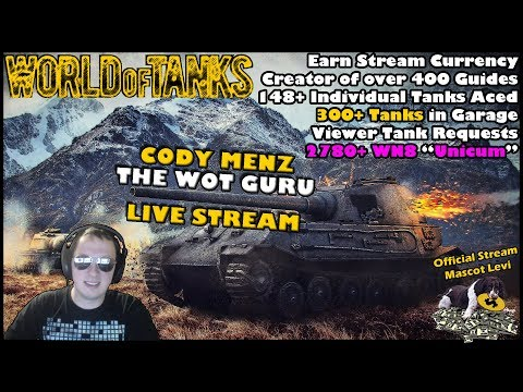 World of Tanks Live Stream   WoT Guru   04/08/2018   Every Match is a Challenge