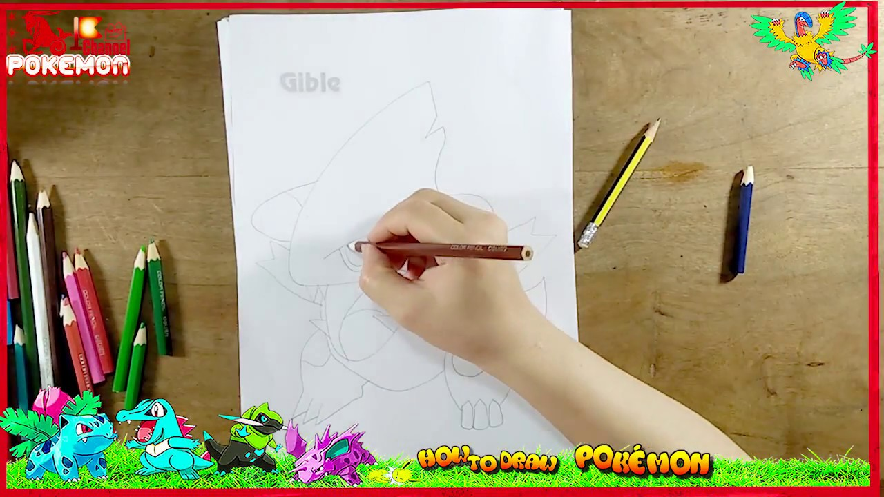 gible coloring pages - photo#35