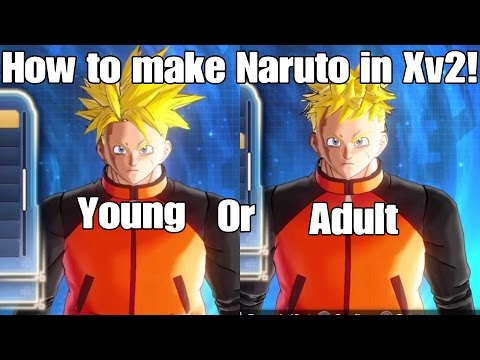 Dragon ball Xenoverse 2 How to Make Naruto Uzumaki CaC!!! Nine Talis Jinchuuriki In Xenoverse!!