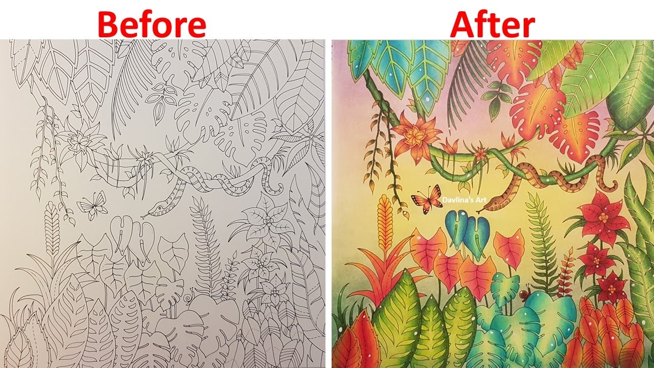 Speed Coloring The Jungle MAGICAL JUNGLE By Johanna