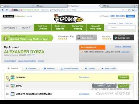 2  Настройка домена DNS в GoDaddy Видеокурс webasyst от А до Я Как открыть Интернет магазин