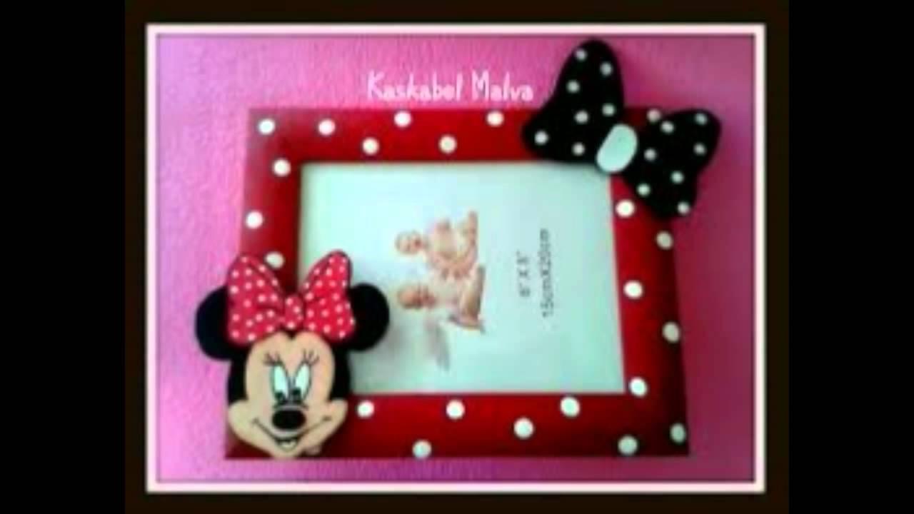 Marcos de fotos de Minnie Mouse echos a mano - YouTube