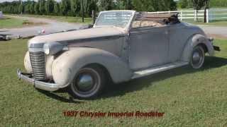 1937 Chrysler Imperial Roadster Restoration Video #1