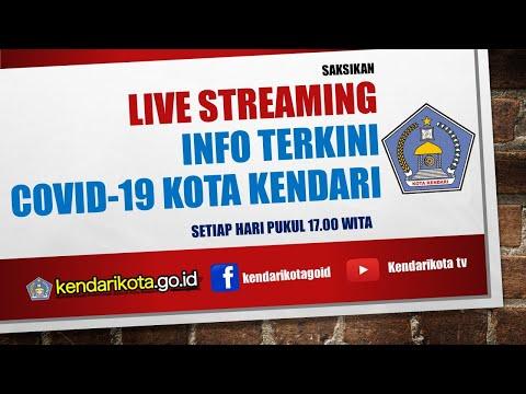 Live Streaming Info Covid-19 Kota Kendari, Rabu 28 Oktober 2020