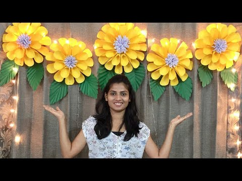 PAPER FLOWERS DECORATION FOR BIRTHDAY AT HOME | BABY SHOWER DECORATION IDEAS