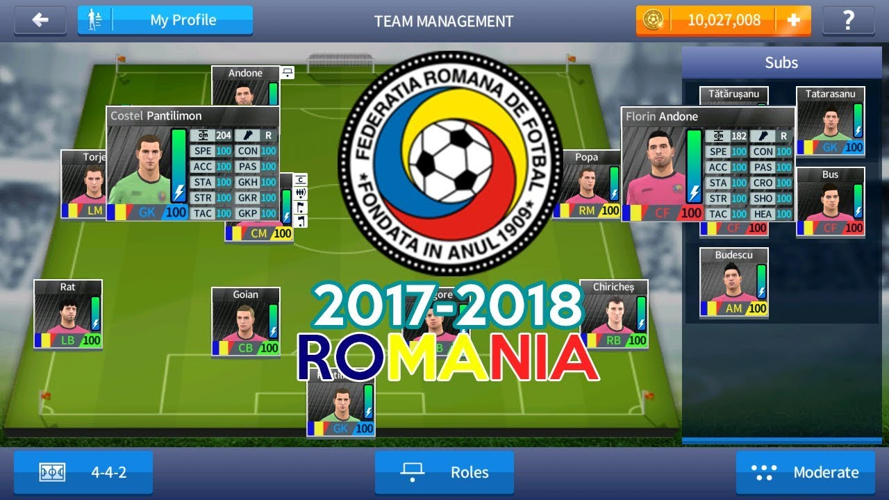 ROMANIA 2017-2018-Dream League Soccer 2017 Save Data With 100 Power