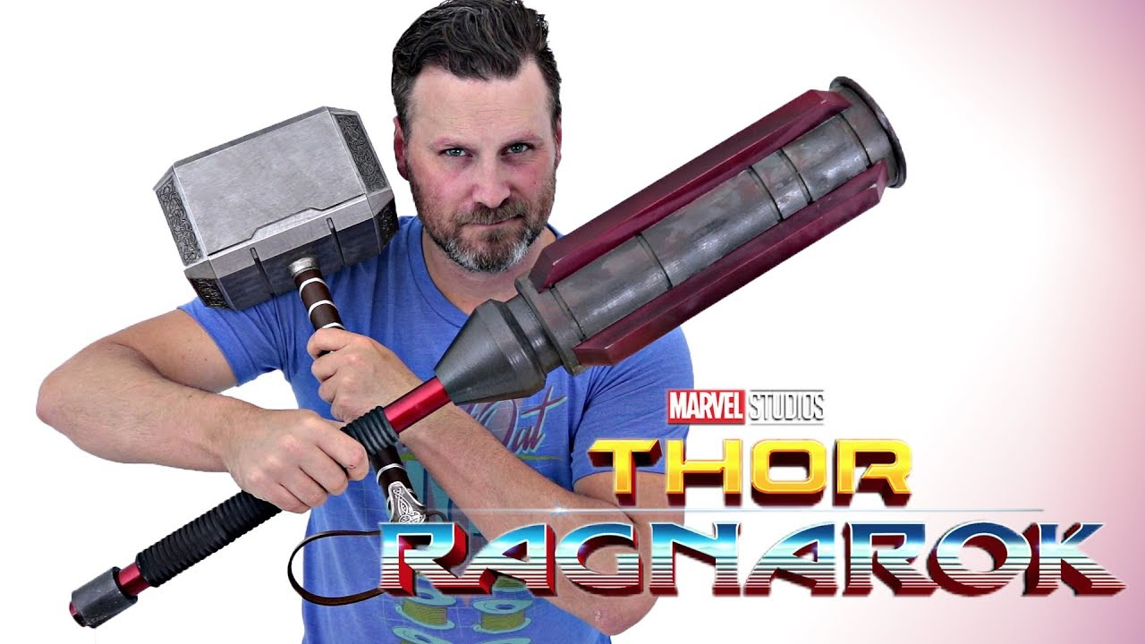 thor ragnarok cosplay build part 3 gladiator hammer 3d printed