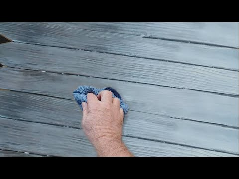 How to distress and  WEATHER Wood - for a barn wood effect
