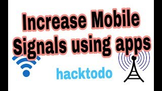 Improve Mobile WiFi single strength any Network