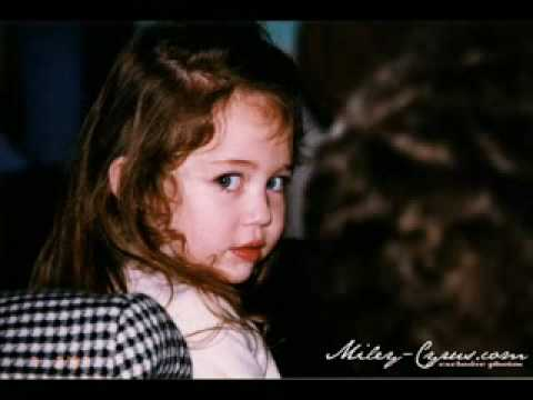 Miley Cyrus baby pictures to a beautiful young lady - YouTube