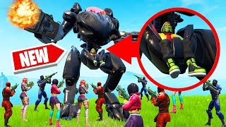 *NEW* ROBOT vs. 100 PLAYERS! (Fortnite SEASON 10)