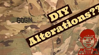 Military Uniform Alterations, Super Easy! Name Tapes, Ranks, Skill Badges, Etc...