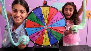 MYSTERY WHEEL OF SLIME CHALLENGE!! Family Fun Video