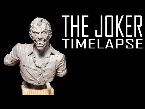 Sculpting The Joker - Timelapse Video.
