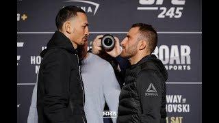 UFC 245: Max Holloway vs. Alexander Volkanovski Media Day Staredown - MMA Fighting