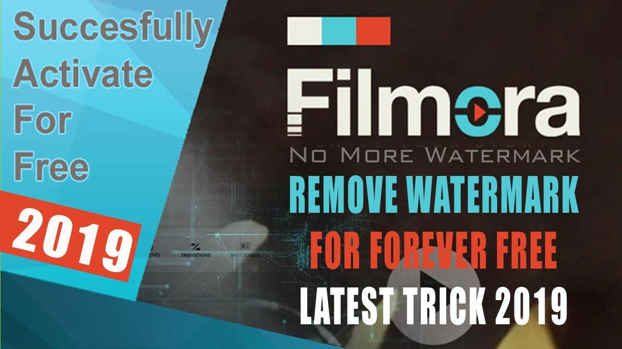 Remove Watermark From Filmora by Register For Free