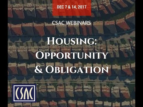 CSAC Webinar - Obligation: New Local Planning Requirements - December 14, 2017