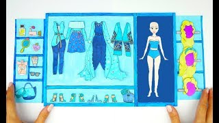 PAPER DOLLS PRINCESS WARDROBE DRESSES & ACCESSORIES PAPERCRAFTS FOR GIRLS