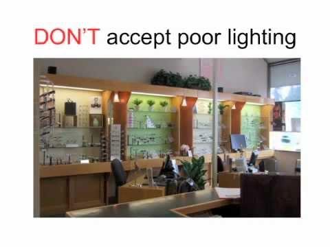 optical office design secrets 6 lighting youtube