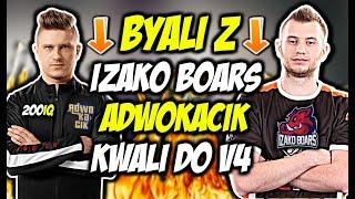 BYALI Z IZAKO BOARS I ADWOKACIK W KWALI DO V4!!! BYALI 1vs2, SZPERO 200 IQ - CSGO BEST MOMENTS