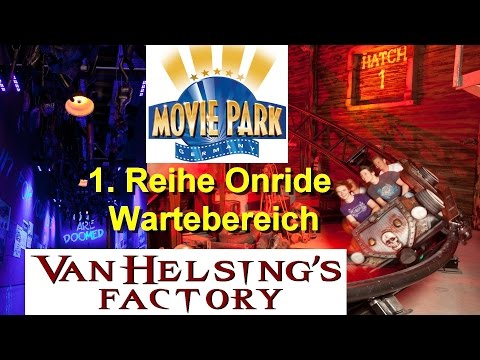Van Helsing´s Factory Onride - Movie Park Germany - Dark Ride Coaster Onride & Wartebereich