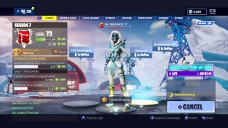 NEW SNOWSTRIKE SKIN ( GIRL SNOWFOOT )- FORTNITE BATTLE ROYALE #subforsub #WakeTheHybrid