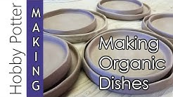 "MAKING Ceramic Dishes - Organic Style ""Slab to Wheel"" - Quick Process Video"