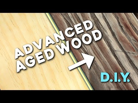 Make Wood Look OLD (Wood Aging Technique - Barnwood, Driftwood)