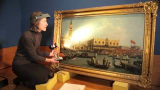 Royal Collection: Preparing a Painting for a Exhibition
