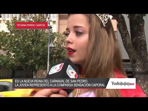 Tatiana Pardo es la nueva reina del carnaval de San Pedro