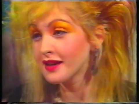 Cyndi Lauper interview UK TV '87