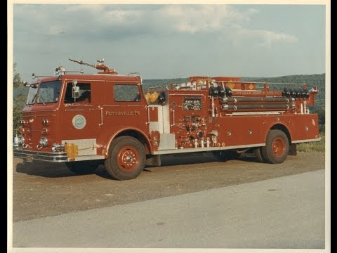Yorkville Hose Co. Pottsville, PA  1967 Maxim Quad - 30 Years of Service