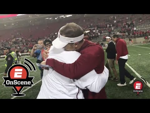 Oklahoma celebrates with Bob Stoops after upset at OSU | OnScene | ESPN