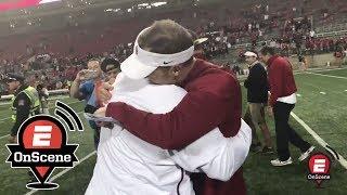 Oklahoma celebrates with Bob Stoops after upset at OSU | OnScene | ESPN