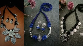 Latest Navratri Special Oxidised Necklace design Collection|| Navratri Festival silver jewellery