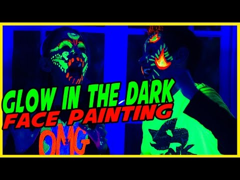 Glow In The Dark Face Painting Challenge Brother Does My Face Painting