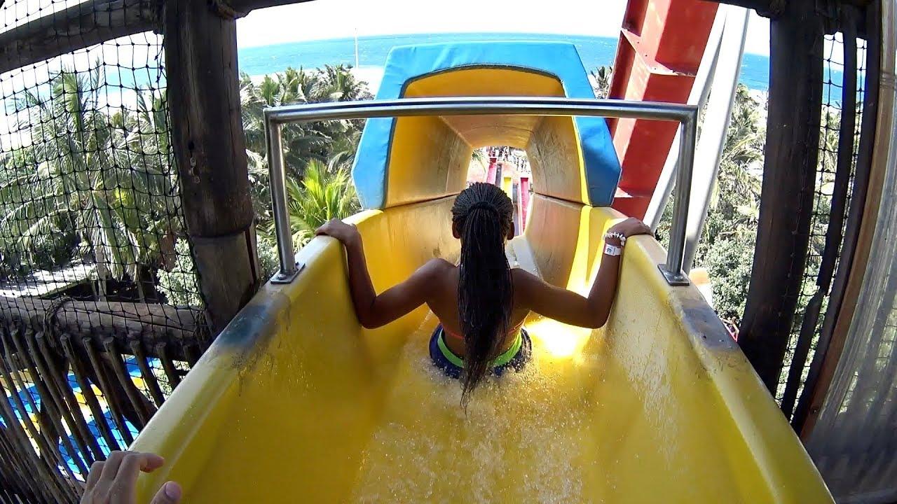 big yellow water slide at ushaka wet  u0026 39 n wild