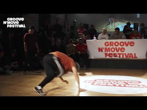 1/4 Final - Timo & Pac Pac (tekken FR) vs Jerry et Nagi (JP) - GNM Bboying battle 2017