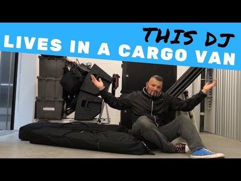 THIS DJ LIVES IN A CARGO VAN | Van Life DJ Vlog