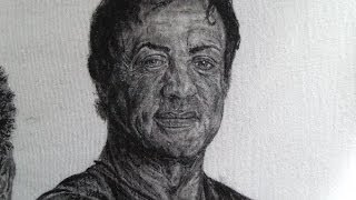 Gemalt Sylvester Stallone HD Cotton textiles painting