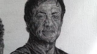 Gemalt Sylvester Stallone HD Cotton textiles painting