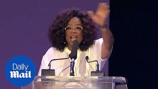 Oprah Winfrey delivers powerful message to youth of South Africa