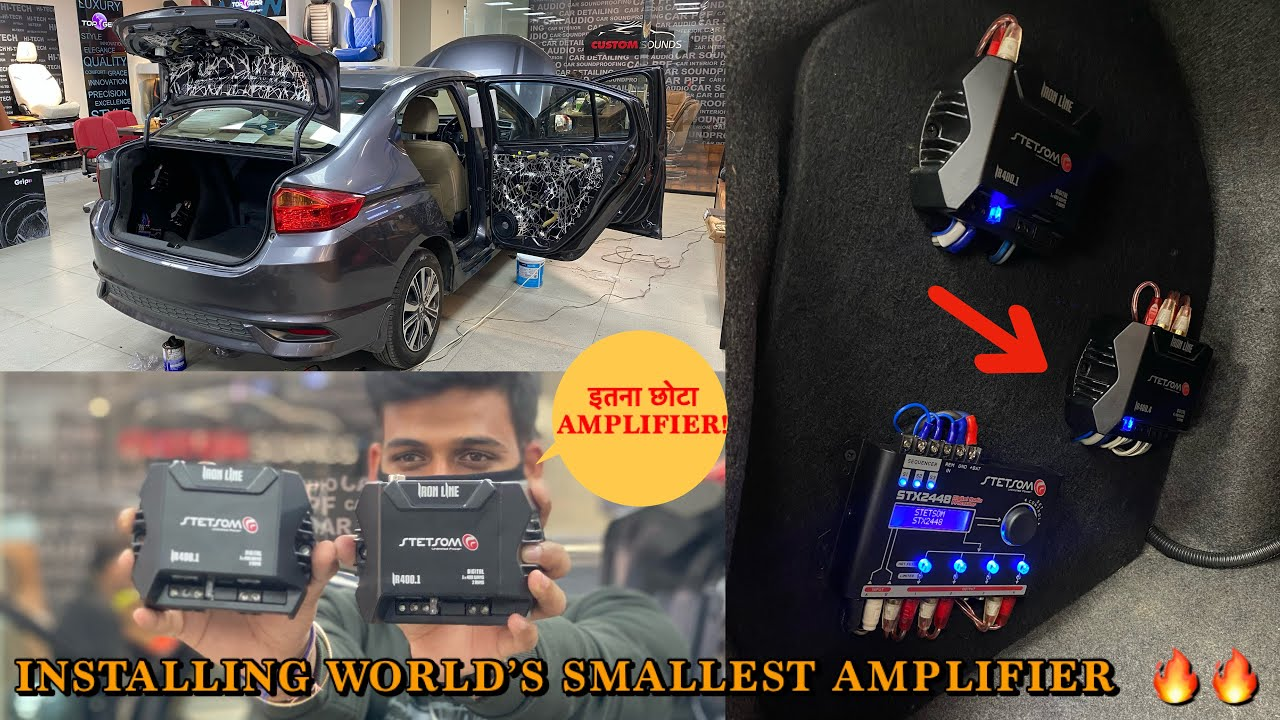 Installing world's smallest amplifier | सबसे छोटा AMPLIFIER | HONDA CITY full music system modified